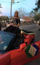 The 2015 Krewe of Andalusia Mardi Gras Parade in New Iberia, Louisiana